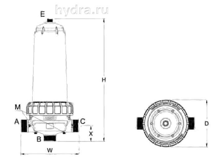 Фильтр механической очистки Azud DF AGL 2