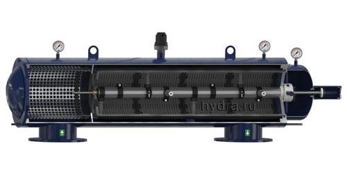 Автоматический сетчатый фильтр с гидравлическим приводом промывки AZUD LUXON LFH HF 9600
